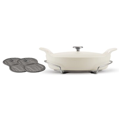 Tramontina Limited Editions Series 1200 Enameled Cast Iron 3.5 Qt Covered Oval Braiser with ...