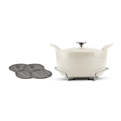 Tramontina Limited Editions Series 1200 Enameled Cast Iron 5 1/2 Qt Covered Round Dutch Oven ...