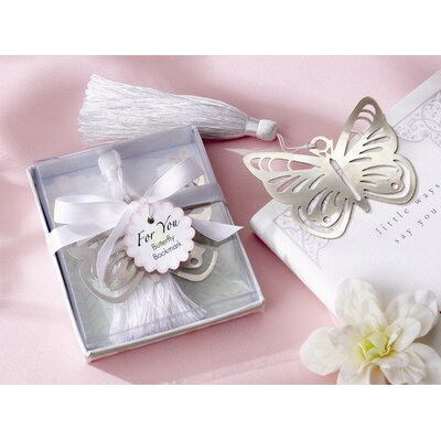 Kate Aspen ''Butterfly'' Bookmark with White Silk Tassel
