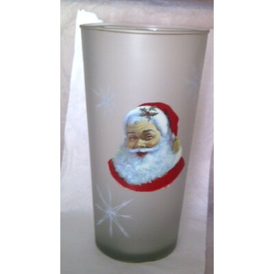 Womar Glass Santa Claus Vase