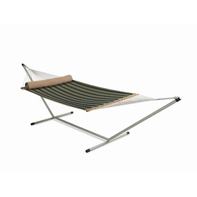 Large Quilted Hammock with Stand and Pillow