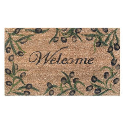 Home & More Olive Branch Welcome Doormat