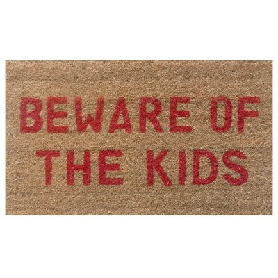 Home & More Beware of the Kids Doormat