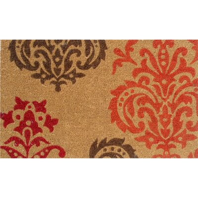Home & More Orange Baroque Doormat