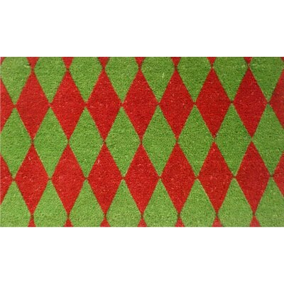 Home & More Christmas Argyle Doormat
