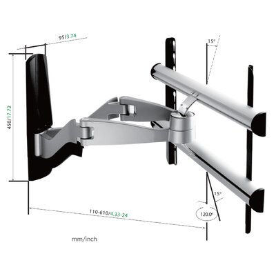Lestech LCD/Plasma TV Articulating Wall Mount for 32'' - 52'' TV Screens