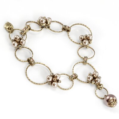 Sweet Romance Circle and Pearl Cluster Bracelet