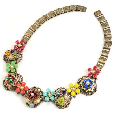 Mayan Garden Collar Necklace