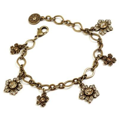 Jasmine Flowers Crystal Charm Bracelet