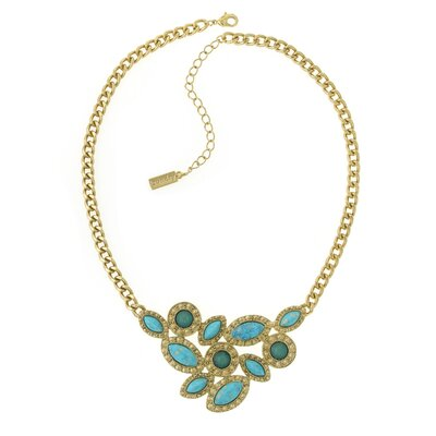 Laundry by Shelli Segal Cluster Front Necklace