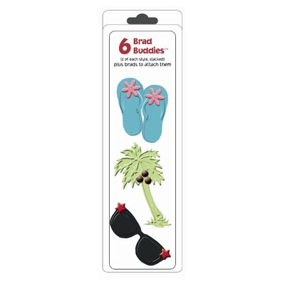 Hot Off the Press Brad Buddies Tropical Brad (Set of 6)
