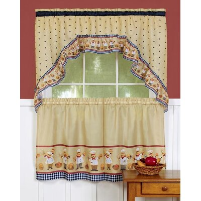 Achim Importing Co Cucina Valance and Tier Set