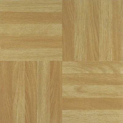 "Achim Importing Co Nexus 12"" x 12"" Vinyl Tile in Four Finger Square Parquet"