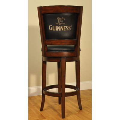 Eci Guinness Bar Stool With Cushion Reviews Wayfair