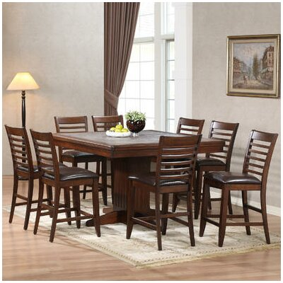 ECI Furniture Tiled Counter Height 9 Piece Dining Set