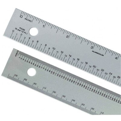 Alumicolor Pica-Points Ruler