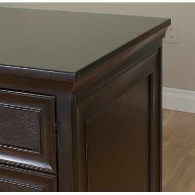 kathy ireland Home by Martin Furniture Kathy Ireland Home by Martin Fulton Space Saver Double Pedestal Executive Desk