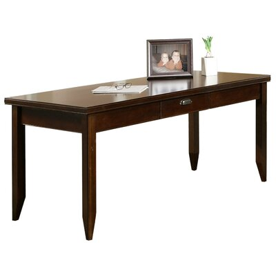 kathy ireland Home by Martin Furniture Tribeca Loft Cherry Writing Table and Hutch Set