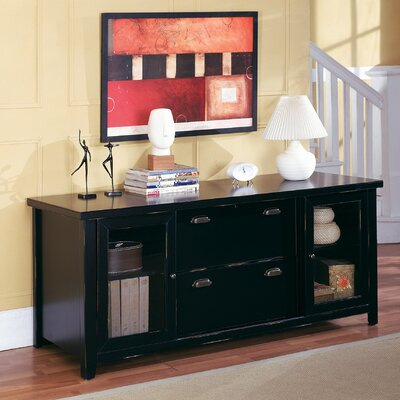 kathy ireland Home by Martin Furniture Tribeca Loft Storage Credenza and Hutch