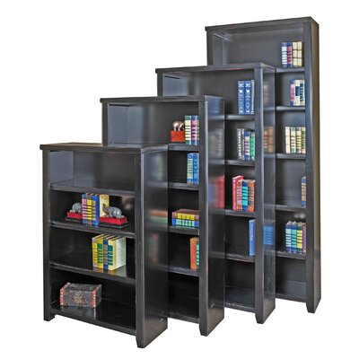 "kathy ireland Home by Martin Furniture Tribeca Loft Black Office Collection 60"" Bookcase in Distressed Painted Black"