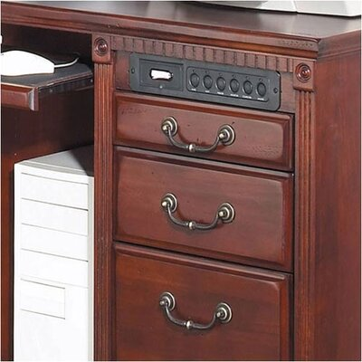 kathy ireland Home by Martin Furniture Huntington Club Right L-Shape Executive Desk