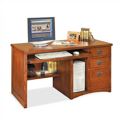 kathy ireland Home by Martin Furniture Mission Pasadena Deluxe Computer Desk and Optional Organizer Hutch