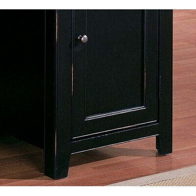 kathy ireland Home by Martin Furniture Tribeca Loft Black Door Base