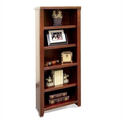 "kathy ireland Home by Martin Furniture Tribeca Loft - Cherry 61"" Bookcase"