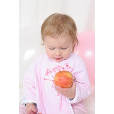 Oots Organic Bib Set in Melon and Baby Girl Pink
