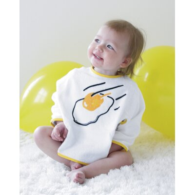 Oots Organic Bib Set in Frying Egg and Baby Boy Blue
