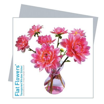 Oots Flat Flowers Window Stickers Originals in Dahlia Pink