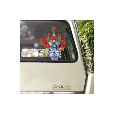 Oots Flat Flowers Window Stickers Originals in Delft Tulip