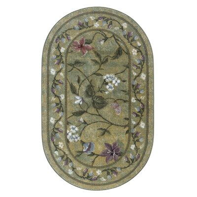 Butterfly Golden Green Rug