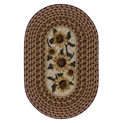 Sunflower Braid Kitchen Rug