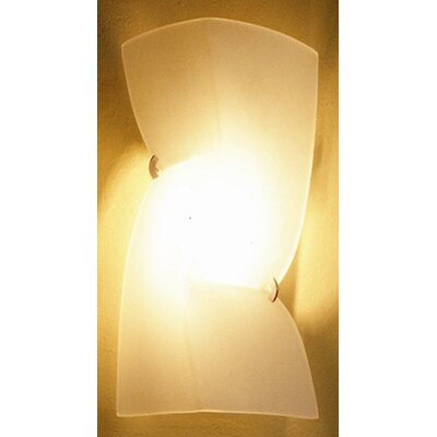 Terzani Petite Left Theatre One Light Wall Sconce with Amber / Gold Diffuser