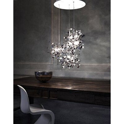 "Terzani Argent 3 Light 15.7"" Suspension White Iron Finish Pendant"