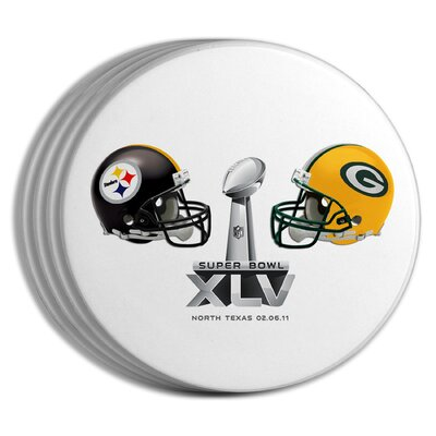 The Memory Company 2011 Super Bowl Dueling Coasters (Set of 4)