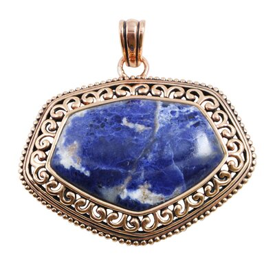 Barse Basic Copper Sodalite Pendant