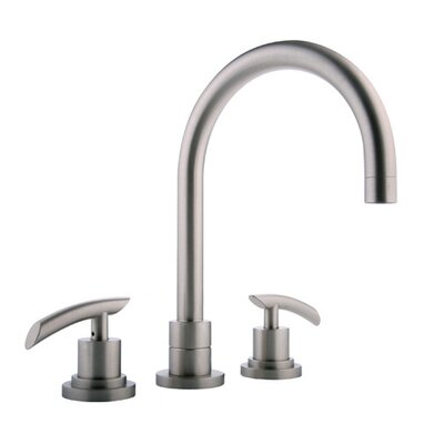 Meridian Double Handle Widespread Roman Tub Faucet Trim with Lever Handle