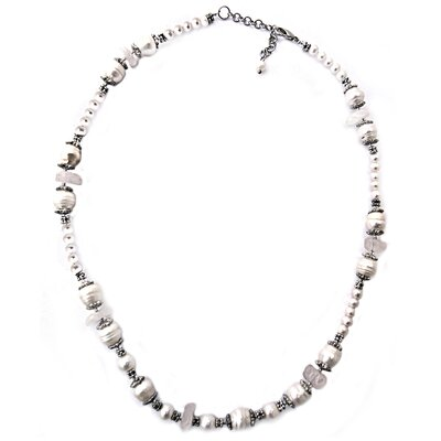 Quartz and Cultured Pearl Necklace
