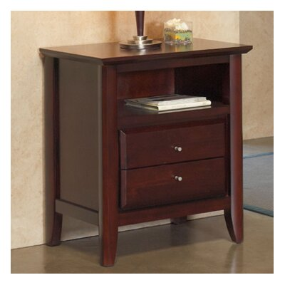 Modus Furniture City II 2 Drawer Nightstand