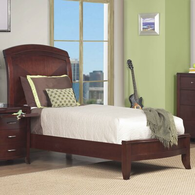 Brighton Twin Size Low Profile Sleigh Bed in Cinnamon