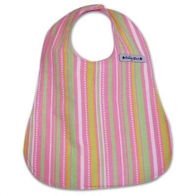 Baby Star Bib in Connect the Dots Pink