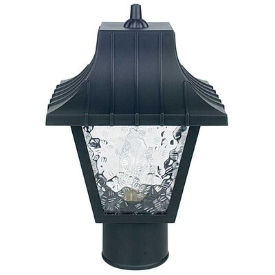 "Sunset Lighting 1 Light 8"" Glass Outdoor Post Lantern"