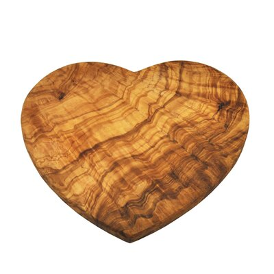 Naturally Med Olive Wood 22cm Heart Shaped Board