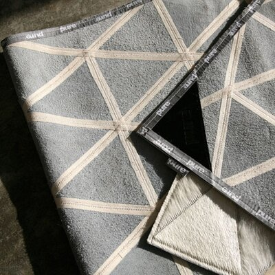 Pure Rugs Patchwork Cowhide Kahn Ivory Rug
