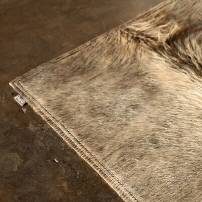 Pure Rugs Patchwork Cowhide Oak Exotic Zebu Rug