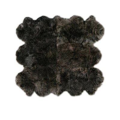 Pure Rugs Patagonia Sheepskin Organic Brown Raccoon Rug