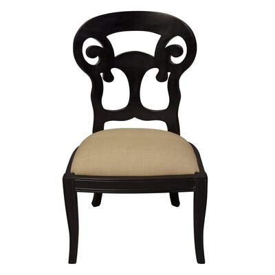 Noir Saragossa Side Chair
