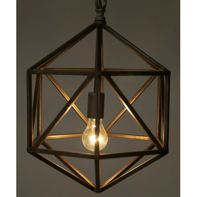 Noir Diamond C 1 Light Foyer Pendant